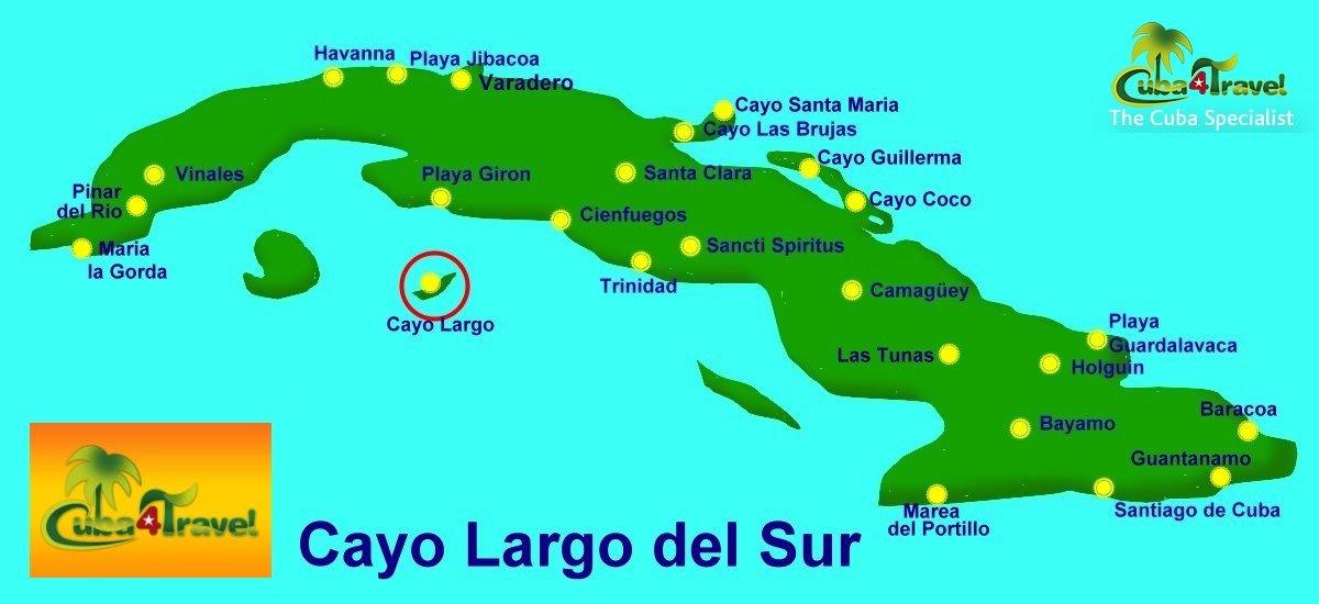 Cayo Largo Cuba Mapa.Cuba4travel Su Especialista En Viajes A Cuba Cayo Largo Cayo Largo La Isla De Las Paradisiacas Playas De Arena Blanca